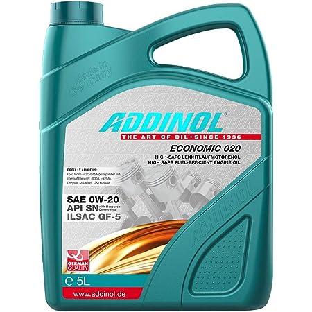 Addinol Motoröl Motorenöl Motor Motoren Motor Oil Engine Oil Benzin Diesel 0w 20 Premium 020 Fe 5l 72097281 Auto