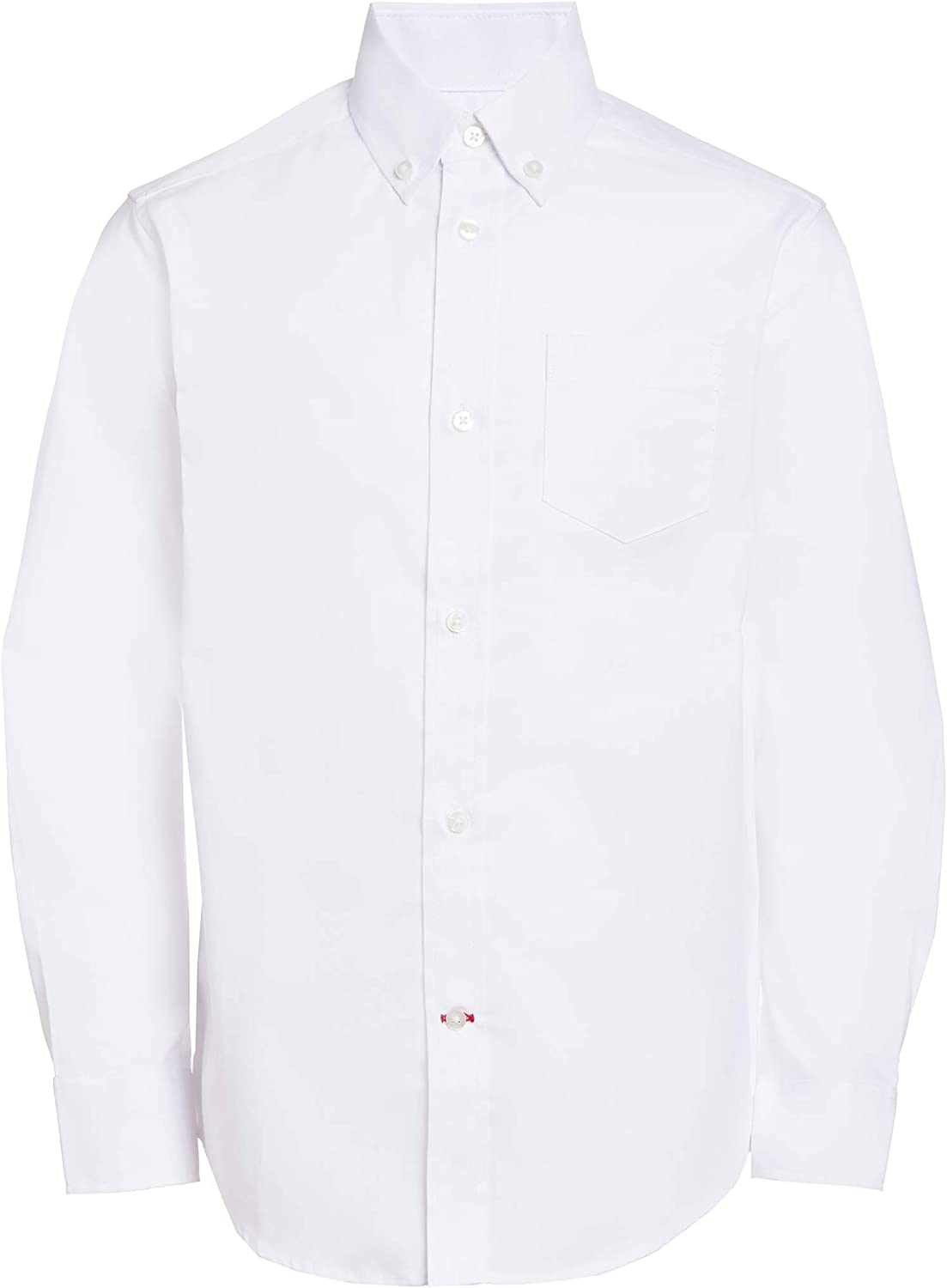 Tommy Hilfiger Boys Oxford Long Sleeve Dress Shirt, Collared Button-Down with Chest Pocket, Regular Fit: Clothing