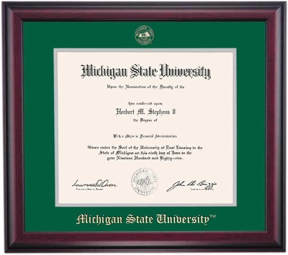 OCM DiplomaDisplay Traditional Frame Michigan State Super beauty product Our shop OFFers the best service restock quality top Universi for