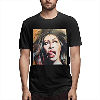 Man's Tina Turner Unique New Year's Day Gift Solid Color T-Shirt