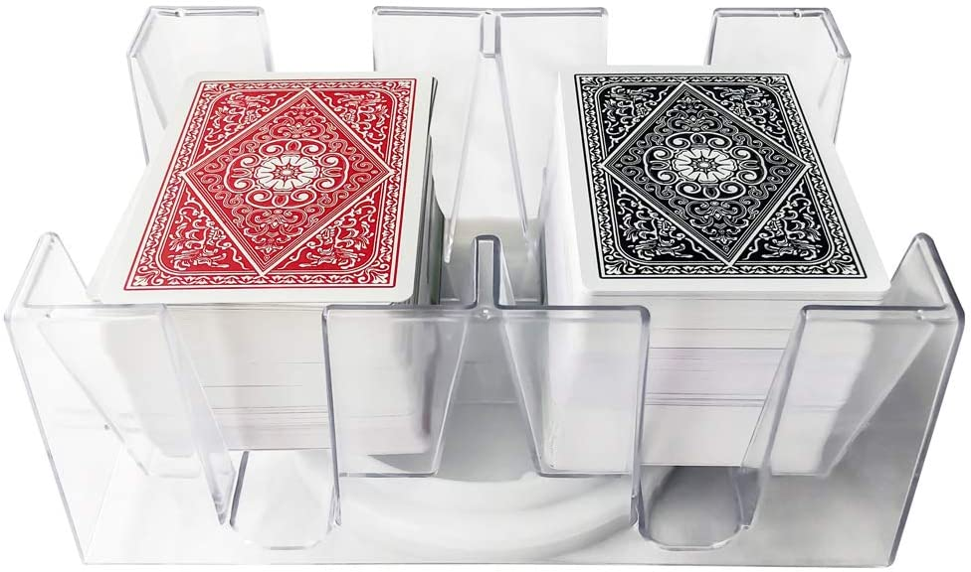 Yuanhe 6 Deck Revolving Rotating Canasta Playing Card Tray