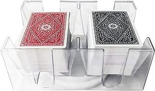 YH Poker 6 Deck Revolving Rotating Canasta Playing Card Tray