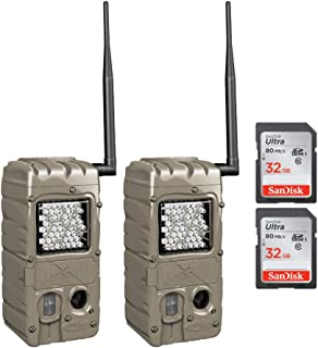 Cuddeback G-5062 CuddeLink, Power House, IR Camera-to-Camera Network Built in 2 Cameras with 2 SD 32GB (4 Items)
