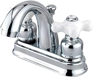 Kingston Brass GKB5611PX Restoration 4-Inch Centerset Lavatory Faucet with Retail Pop-Up, 3-5/8 inch in Spout Reach, Polis...