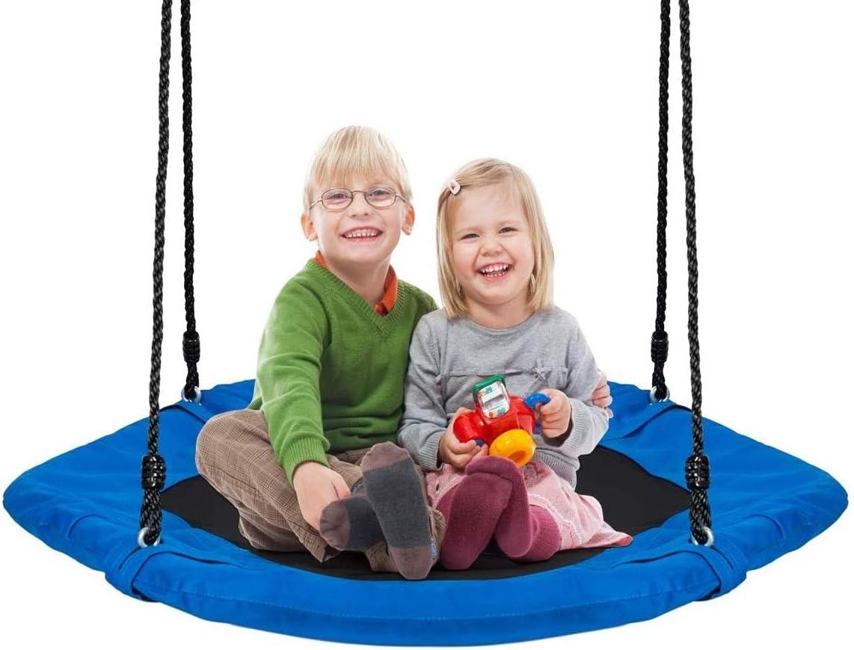 Costzon 37 inch Children Tree Swing Set, Outdoor Kids Saucer Swi
