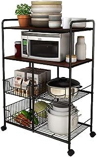 Etagere Rangement Cuisine Cuisine Rack Utilitaire Vintage étagère de Rangement for Micro-Ondes Support de Table Spice Rack...