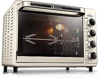 L.TSA Cocina Horno eléctrico de Pizza multifunción para el hogar de 32 litros, Horno de Escritorio, iluminación incorporada, Control de Temperatura Independiente de Las tuberías Superior e inferio