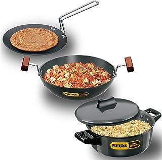 Futura Hard Anodised Cookware Set No 4: (contains L53, L18 & L62) (LS5) (HWS_LS5_BLK Black)