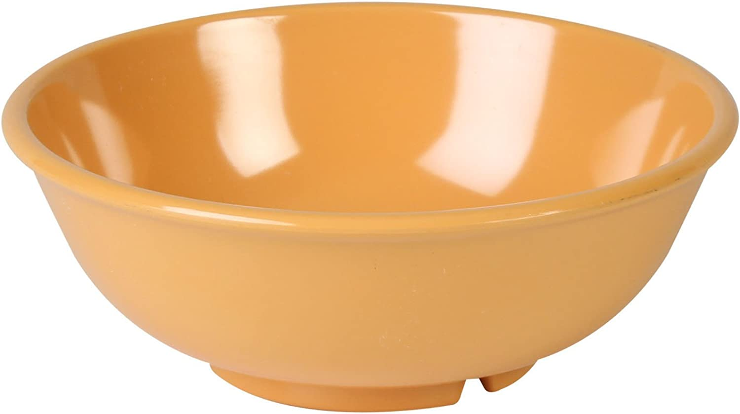 Excellanté Yellow Melamine Collection 7-1 2-Inch Salad Bowl, 24-Ounce, Yellow, 12-Piece