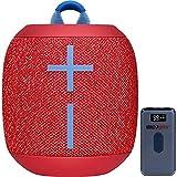 Ultimate Ears 984-001549 WONDERBOOM 2 Portable Waterproof Bluetooth Speaker Radical Red Bundle with Deco Gear Power Bank 8000 mAh Digital Display with Wireless Device Charging (Renewed)
