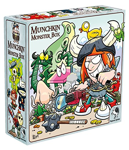 Pegasus Spiele 17028G - Munchkin Monsterbox Cover 2, McGinty-Edition