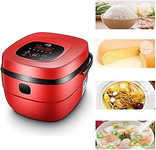 GAYBJ 5L Cocina de arroz al Vapor 900W eléctrica vaporera Cocina de arroz al Vapor De Primera Calidad Olla Interior con Antiadherente crisol de cocinar Función para Mantener Caliente,Rojo