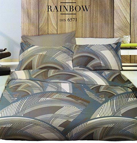 TAG HOUSE Rainbow 6571 V.02 Sarcelle Parure Housse de Couette Double – Exclu Drap-Housse Bossi