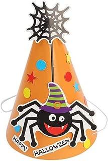 Halloween Hat Children Headdress DIY Paper Cartoon Hat Party Decoration Supplies Party Props Kids - Yellow