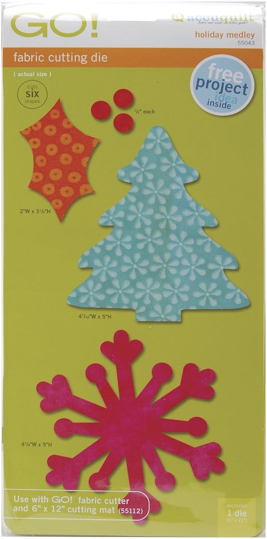 AccuQuilt 55043 Stanzform Holiday Medley winterliches winterliches winterliches Allerlei B002Y2F3RM     | Verschiedene Arten und Stile  00e511