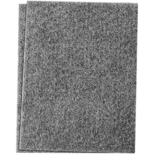 SoftTouch 4780095N Self-Stick Furniture Felt Sheet Cut into Any Shape to Protect Hard Surfaces, 2 Pack, Gray