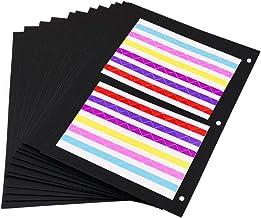 ThxMadam Scrapbooking Papel Negro 26x18CM, 20pcs Extra de Recarga páginas de Fotos Libro en Blanco de Papel Bricolaje Recortes álbum de Foto 27.5x20.5CM, para álbum Grande
