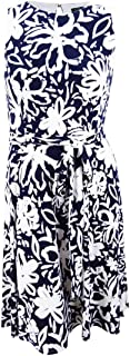 Womens Feliana Floral Print Sleeveless Midi Dress