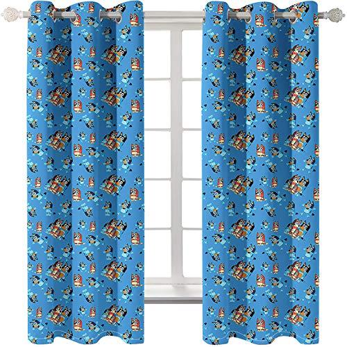 CCBAO Cortinas Super Opacas Cortinas Decorativas Personalizadas De Estilo Europeo Adecuadas para Villas Hoteles Centros Comerciales Cortinas para Proteger Eficazmente La Privacidad Personal 2 Piezas