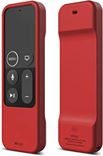 elago R1 Intelli Case [Red]-[Magnet Technology][Anti-Slip][Lanyard Included][Heavy Shock Absorption] for Apple TV Siri Remote 4K / 4th Generation