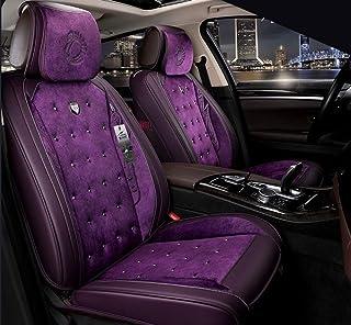 Cubierta de Asiento de Coche, Fundas for Asientos de Cuero Coche, Asiento Universal Antideslizante de la Cubierta automática for el 95% de los Asientos de Coche (Color : Purple)