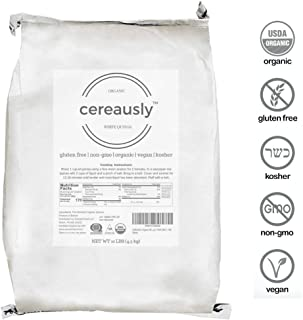 CEREAUSLY Organic White Quinoa in Bulk | 10 Lb | Restaurants | Wholesale | Bolivian | Royal | NON-GMO | Kosher | Gluten-Free | Vegan