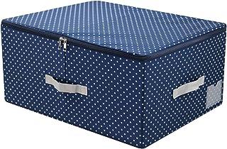 iwill Create Pro Boîte de rangement empilable en nylon lavable avec couvercle zippé Boîte de rangement pliable pour vêteme...