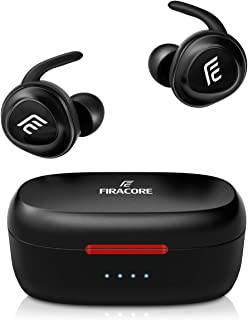 $34 » Bluetooth Headphones, FIRACORE 5.0 True Wireless Earbuds Deep Bass HiFi Stereo Sound Bluetooth Earphones 16H Playtime Mini in Ear Headset with Charging Case and Built in Mic for Sports Running