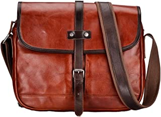 Mens Bag Male Leather Business Tote, Japanese Crazy Horse Leather Travel Bag, Large Wear Capacity,Brown American Retro Leather Large Backpack, High capacity