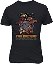 RIVEBELLA New Graphic Tee Rick Morty Shirt Two Brothers Graphic Men's T-Shirt