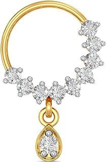 Joyalukkas 18k (750) Yellow Gold and Diamond Nose Pin