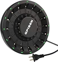GPISEN 16 Bay Smart Round Charger with LED for AA/AAA - NI-MH/Ni-CD