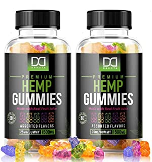 Hemp Gummies Supplements for Stress Relief Aid Mood Inflammation Focus Calm Extra Strength Vitamin Chewable for Adults, Be...