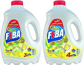 سائل غسيل الاطباق برائحة الليمون من فيبا، قطعتين - 7 كجم