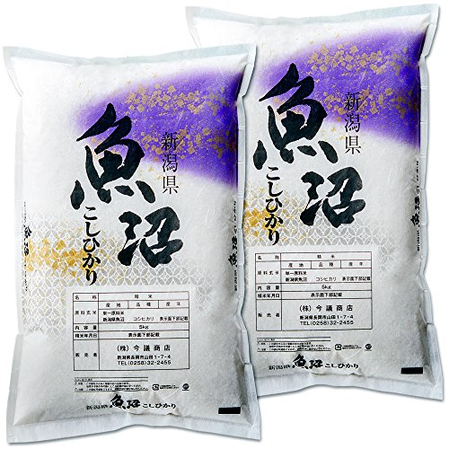 新潟県産 魚沼産コシヒカリ 産直 白米 10kg (5kg×2 袋) 令和2年産