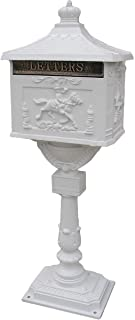 Polar Aurora Mailbox Cast Aluminum White Mail Box Postal Box Security Heavy Duty New