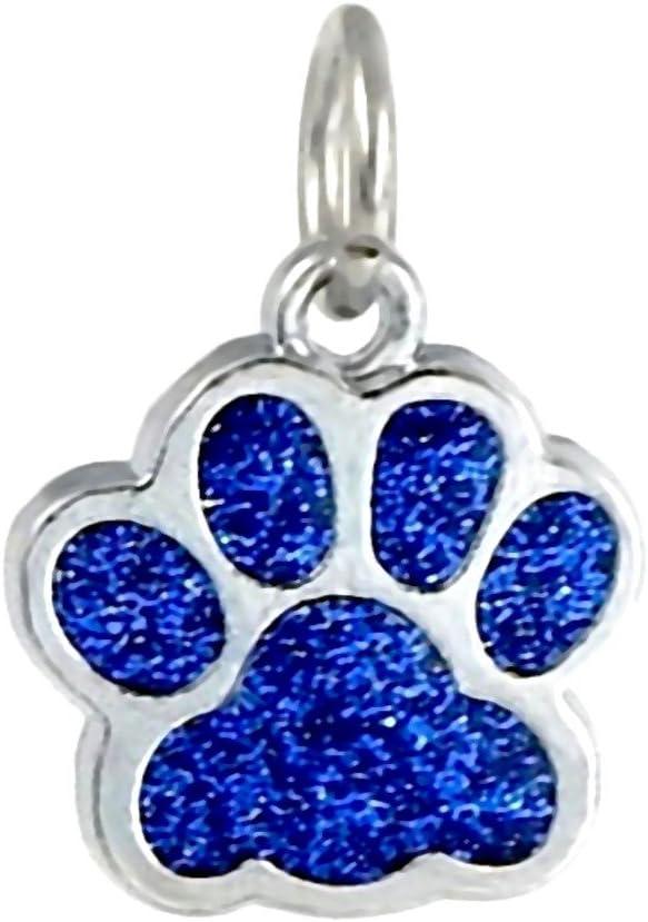 J&M Dangle Enamel Sapphire Blue Cat/Dog Paw Charm Bead for Charms Bracelets