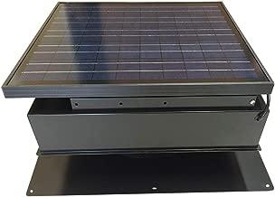 Remington Solar Attic Fan, Solar 30 Watt Solar-Powered, Roof Mounted with Bonus Thermostat and Humidistat Pre-Installed, Quiet Brushless 24V DC Motor Easy Installation Exhaust Fan, in Black