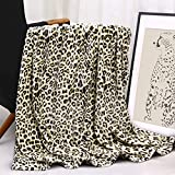 WISH TREE Leopard Blanket, Fleece Throw Blankets with Cheetah Print for Women, Leopard Print Blanket for Couch Sofa Bed, Home Decor 50x60inches Lightweight Fannel Fleece Animal Print Blanket