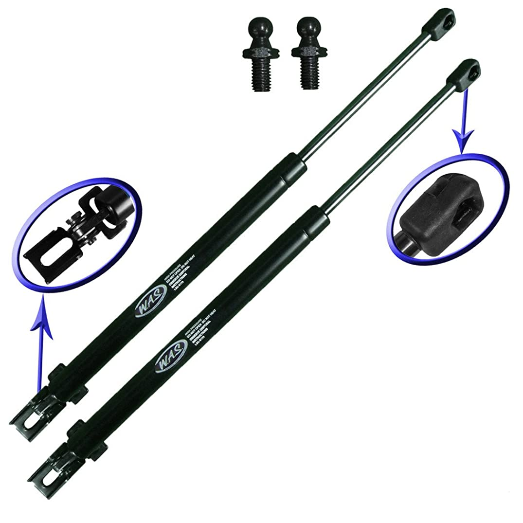 Two Rear Hatch Liftgate Gas Charged Lift Supports With Upgraded Mounting Studs and Brackets For 1993-1998 Jeep Grand Cherokee. WGS-179-2