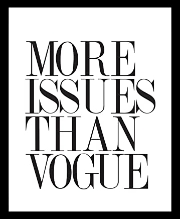 More Issues than Vogue Marco No incluido Revista Cuadro decorativo Print Frase Quote Frase Interior Regalo Arte Poster Cuadro Decorativo Art Wall Art Vintage Decor Home Decor Decoración Retro Hipster Cool