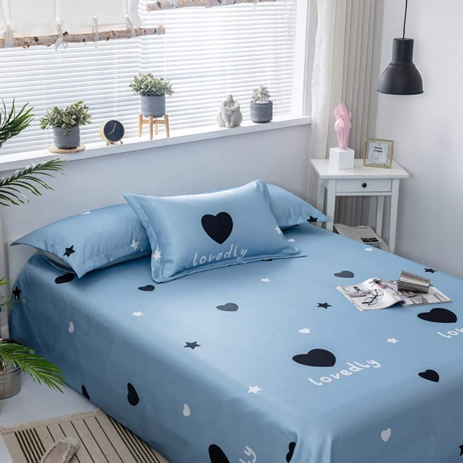 Collapsible Ice Silk Mat Double Air-Conditioned Mat Refreshing Three-Piece 1.8 1.5 2 M Ice Silk Soft Mat(with Pillowcase) (color   bluee1, Size   Suitable for 2m Bed)