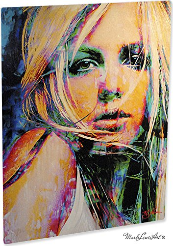 Britney Spears Snow Blind Study 1' Pop Art Giclee Metal Print by Mark Lewis