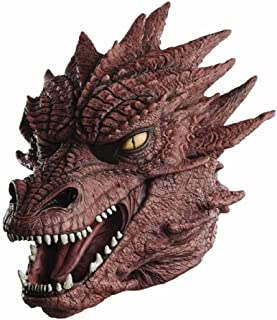 COMLZD Scary Dragon Animal Head Mask Latex Monster Horror Rubber Halloween Masks Party Costume