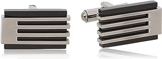 Parejo Cufflinks for Men, CLV-0502 BL,Stainless Steel