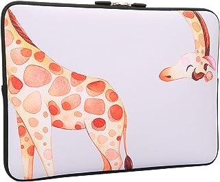 حقيبة لاب توب بحجم 13-13.3 بوصة من لاباك بتصميم زرافة مضحكة 13-13.3 بوصة، حقيبة جلدية للكمبيوتر المحمول خفيفة الوزن مصنوعة...
