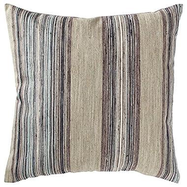 Rivet Bohemian Stripe Pillow, 17  x 17 , Dusk