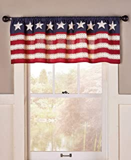The Lakeside Collection Star Spangled Window Valance