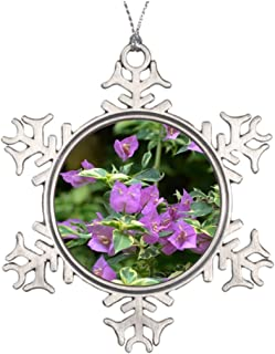 Kappies nip Tree Branch Decoration Purple Variegated Crepe and Myrtle Cool Snowflake Ornaments