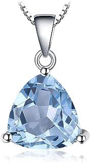 JewelryPalace Colgante Oval Redondo Triángulo Pera Forma Natural Amatista Citrine Granate Peridoto Topacio Azul Piedra Pre...